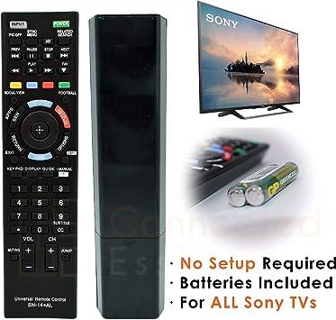 Mando a Distancia de Repuesto semiuniversal (Solo Sony) para televisores Inteligentes Sony.: Amazon.es: Electrónica