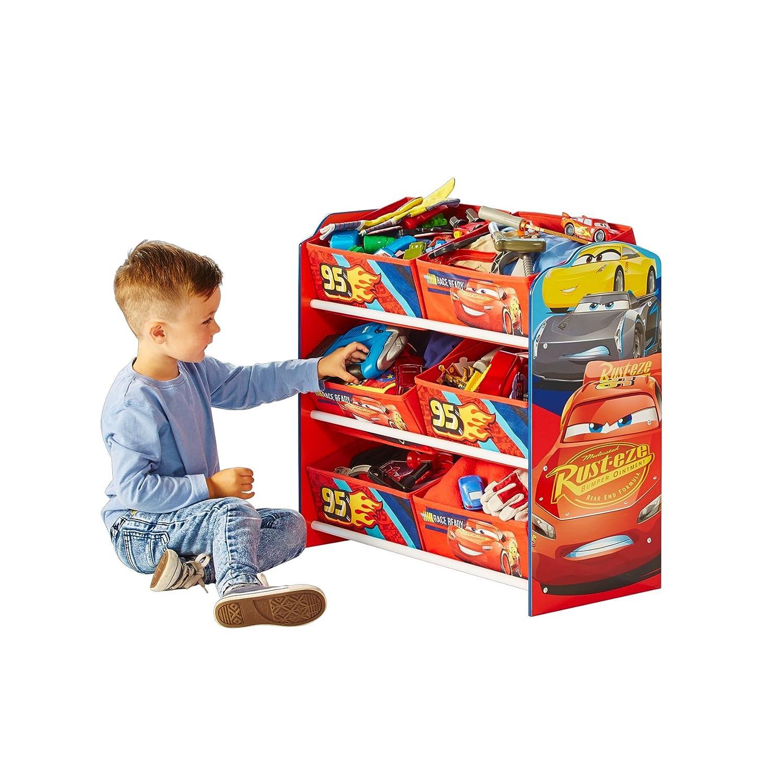 Legno/_Composito 60x63.50x30 cm Multicolore Disney Porta Giochi con 6 contenitori