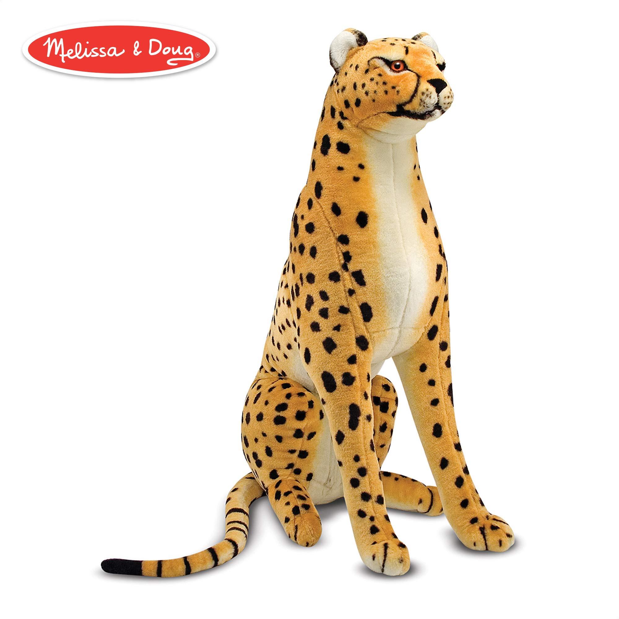 Melissa & Doug Giant Cheetah - Lifelike Stuffed Animal