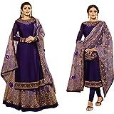 Purple Skirt Lehenga & Churidar Combo Style Ready to wear Party & Festival Muslim Punjabi Salwar Suit 8651 (16)