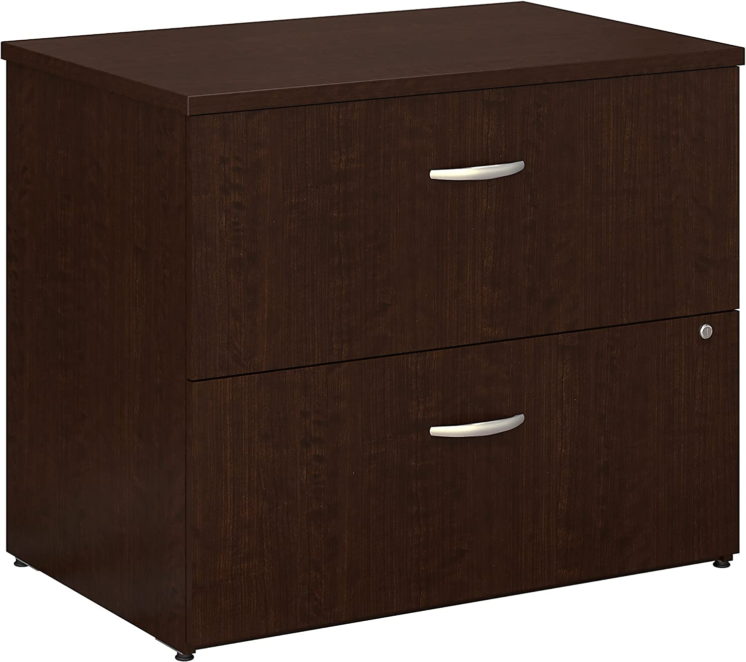 Bush Business Furniture Series C 36W 2 Drawer Lateral File in Mocha Cherry