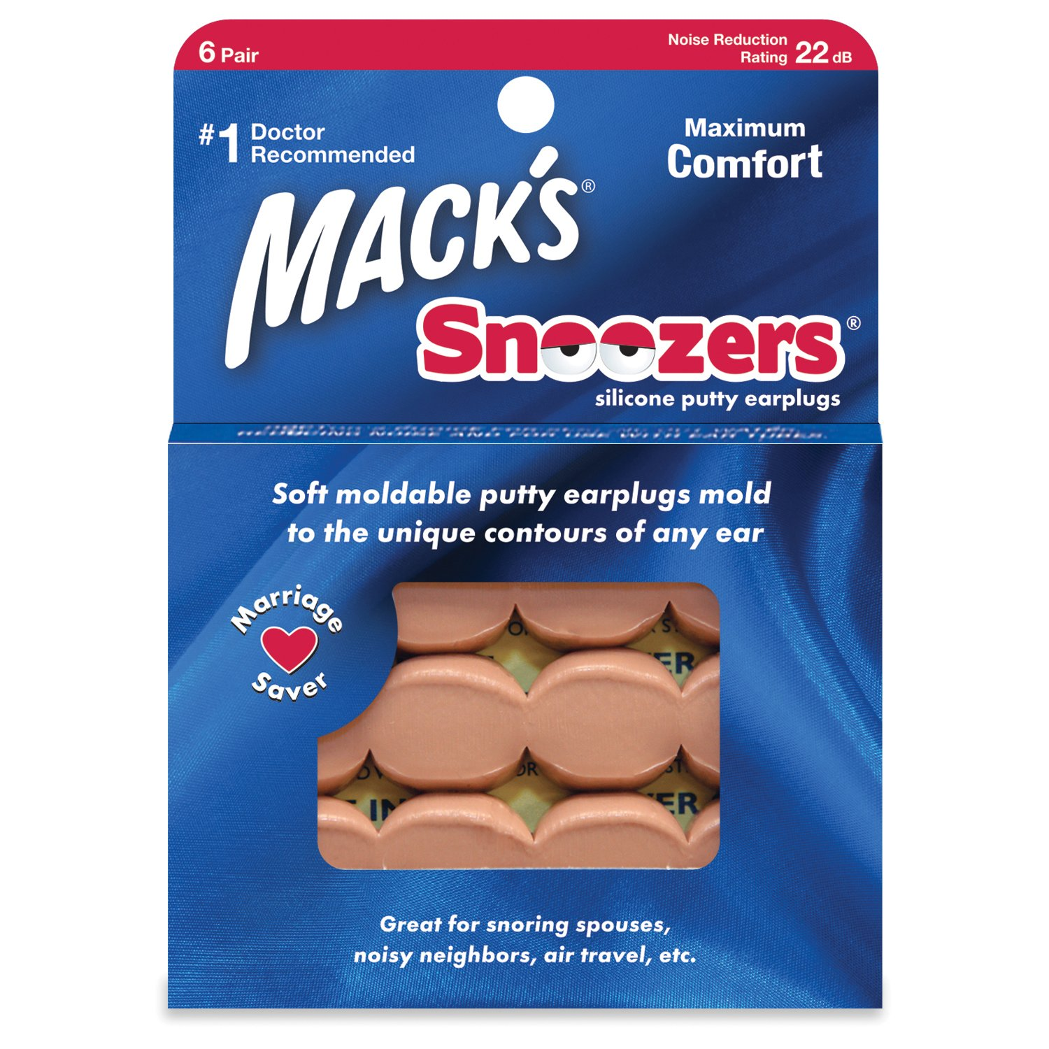 Macks Snoozers Moldable Silicone Putty Earplugs 6 Pairs x 3 18 Pairs