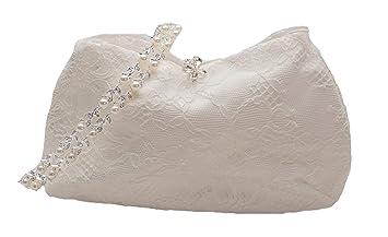 Nina Brautmoden Brauttasche rund aus Satin und Spitze T6