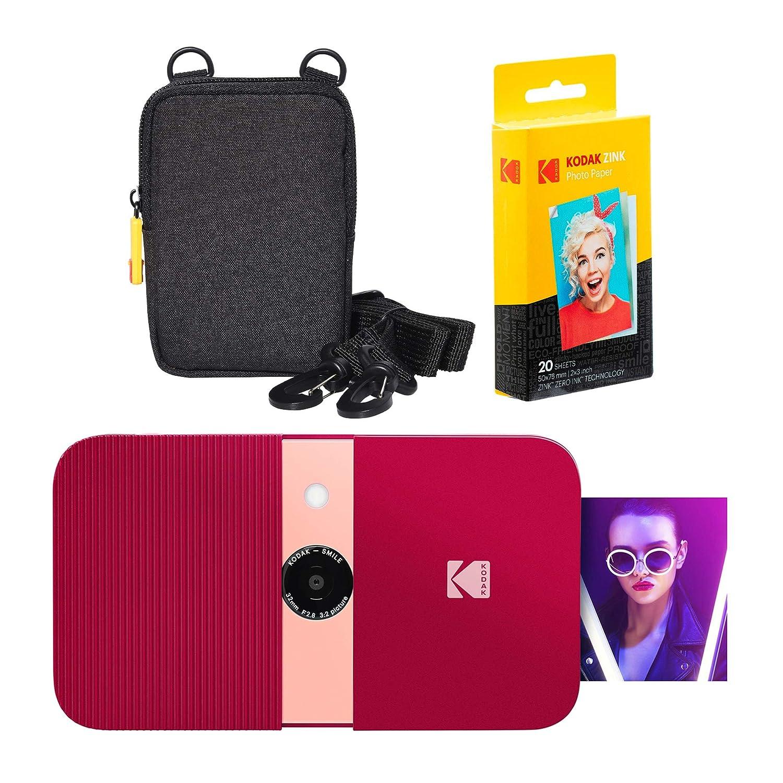 KODAK Smile Impresora Digital instantánea (Rojo) Soft Case ...