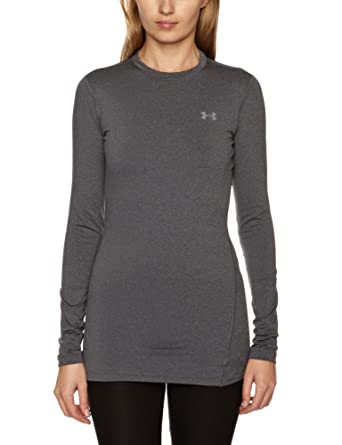 Under Armour ColdGear - Camiseta térmica interior para mujer, color negro gris gris Talla:large: Amazon.es: Ropa y accesorios