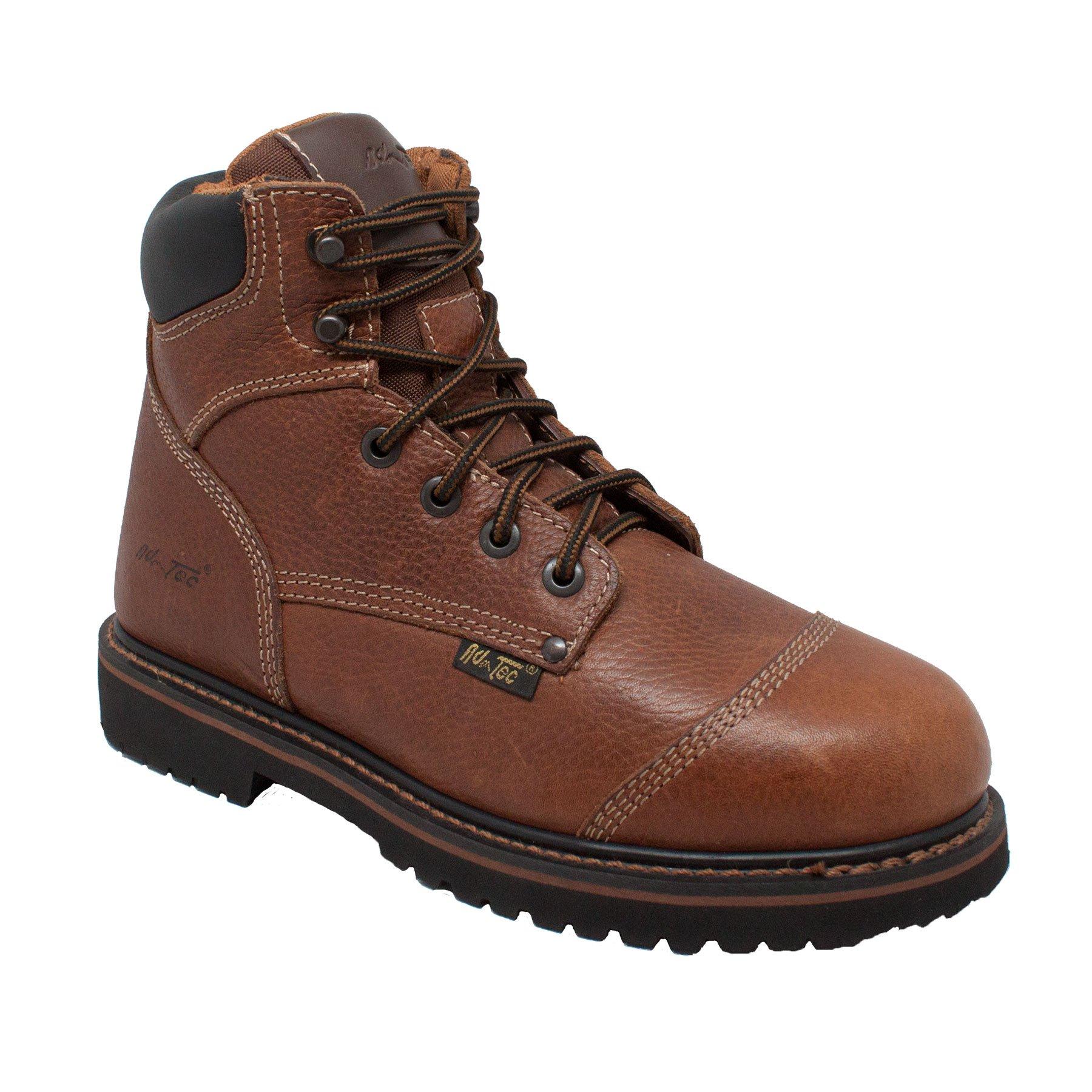 Adtec Men's 6 inch Comfort Work Boot, Light Brown, 8.5 W US