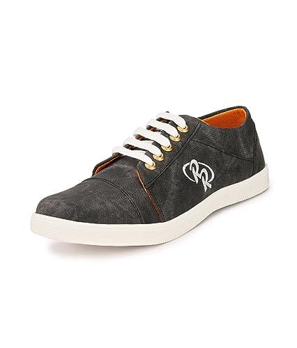 Chaussures De Baskets En Toile Hommes Marusthali (9, Orange Bleu)