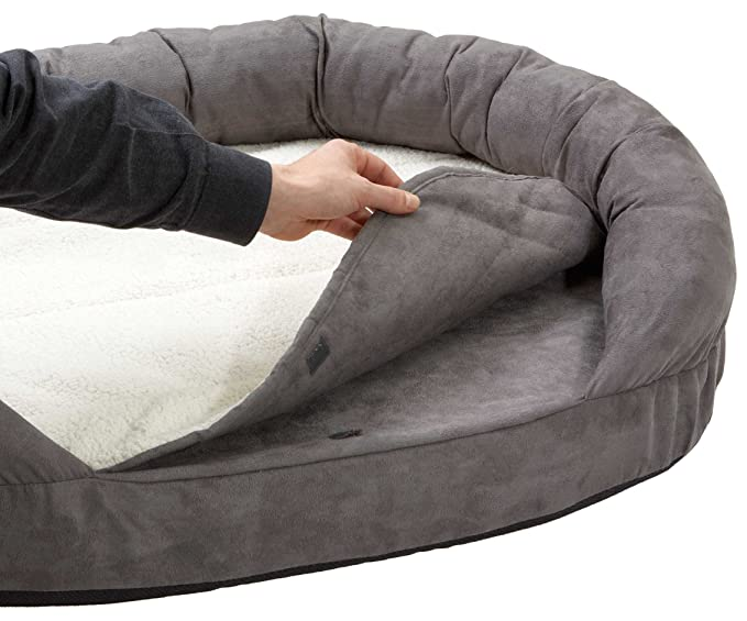Karlie 68416 Ortho Bed Oval Cama de Perro, Gris, 120 x 72 x 24 cm: Amazon.es: Productos para mascotas