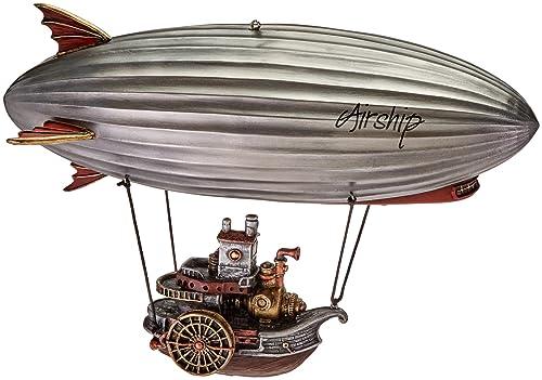 11 Steampunk Airship With Steamship Gondola Home Decor Statue Fantasy Figure