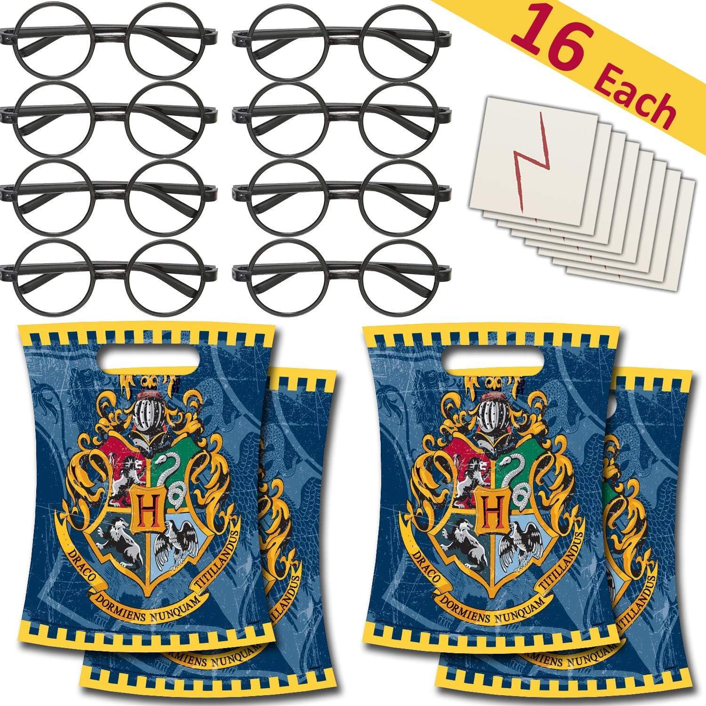 Amazon.com: 16 Each - Round Glasses + Lightning Bolt Scar ...