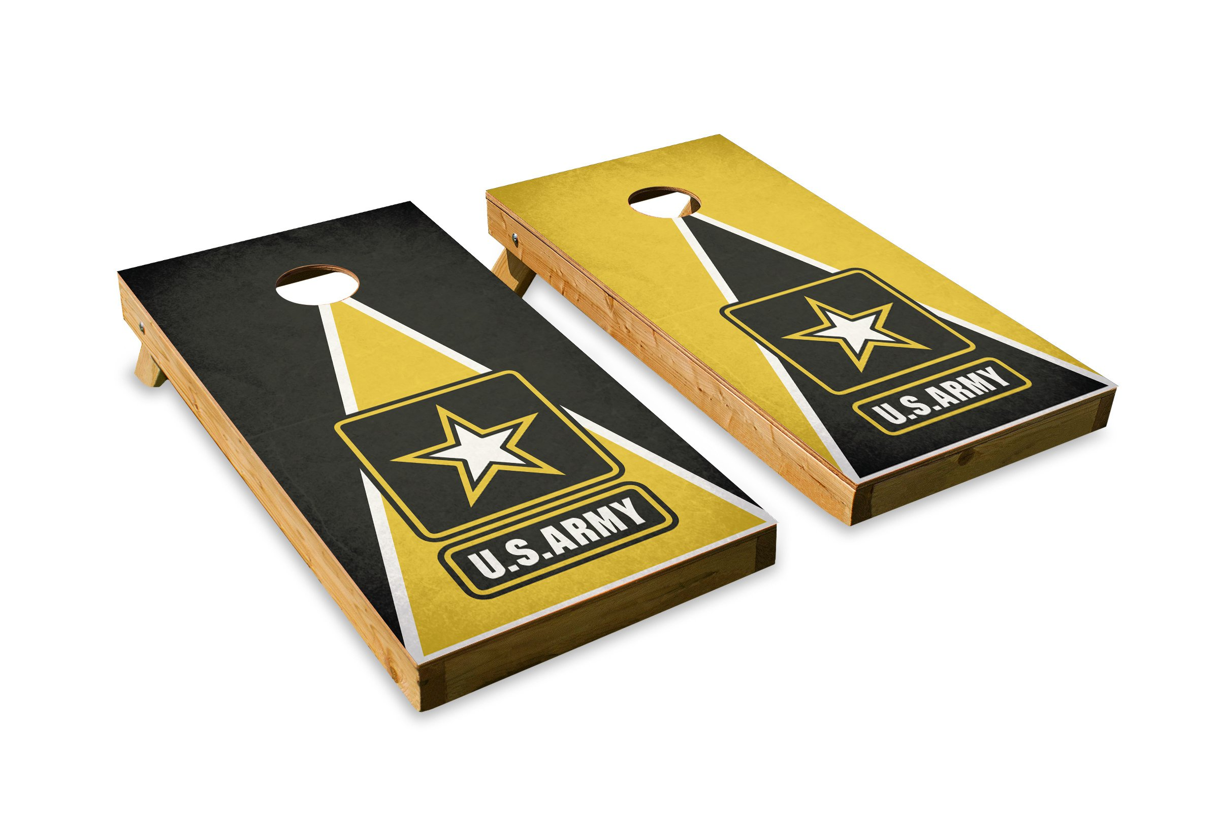 Army - Military Service - Cornhole Crew - ACA Regulation Size Cornhole Board Set