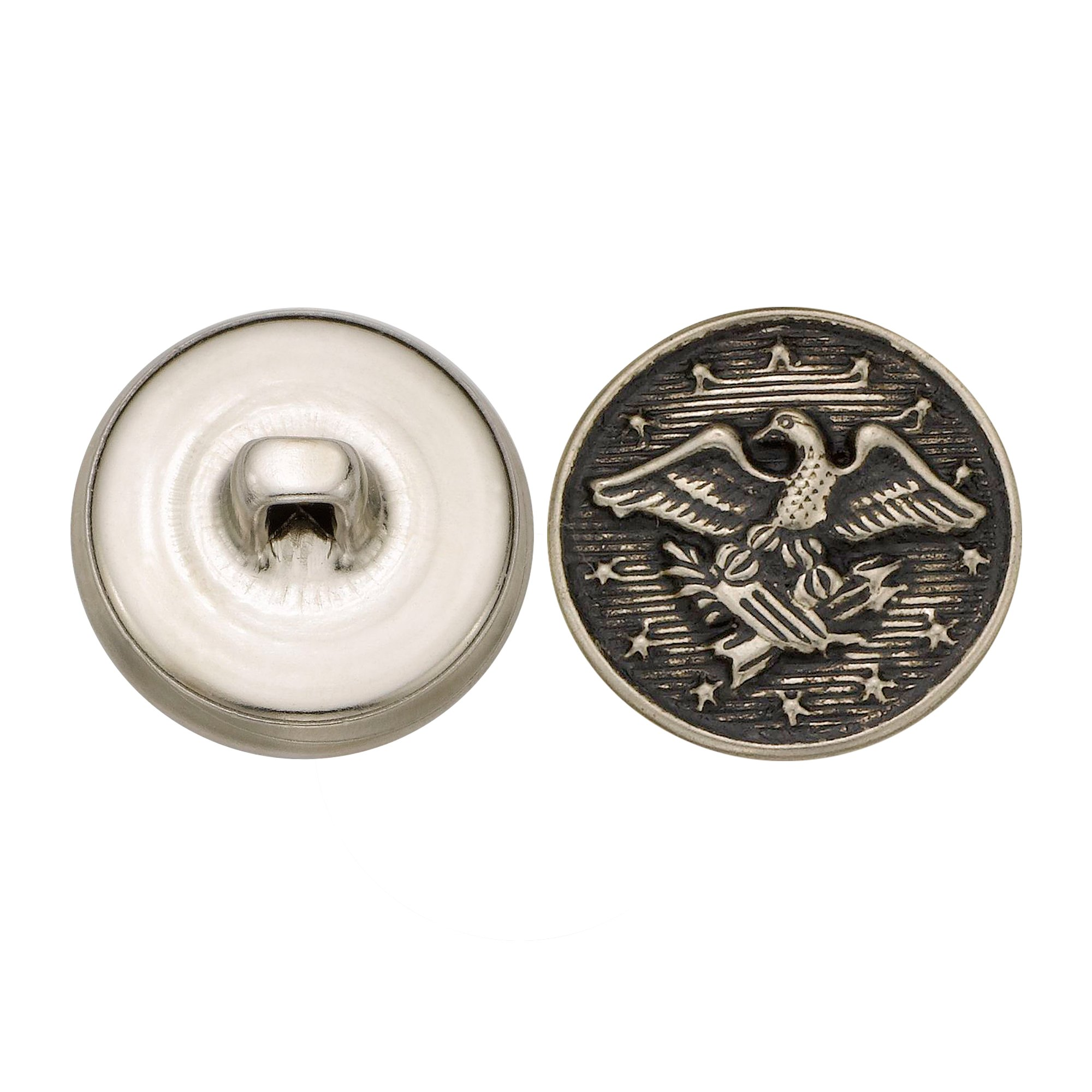 C&C Metal Products 5190 Colonial Eagle Metal Button, Size 30 Ligne, Antique Nickel, 36-Pack