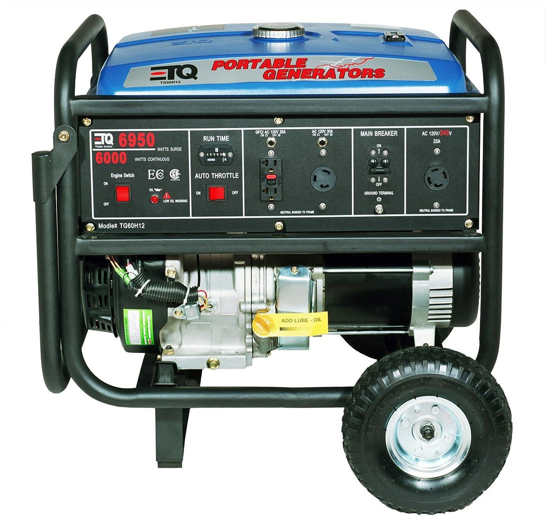Amazon ETQ TG60H12 6 950 Watt 13 HP 389cc 4 Stroke Gas