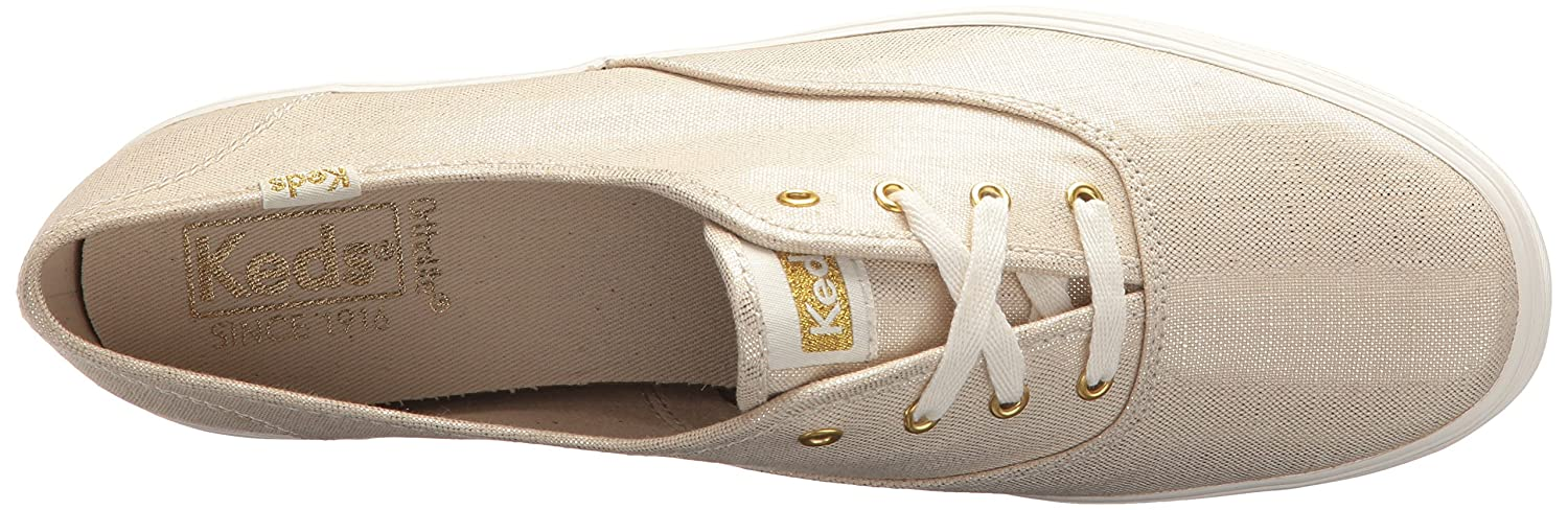 Keds Women's Triple Metallic Linen US|Gold Sneaker B071JSN6V8 8 B(M) US|Gold Linen 94833e