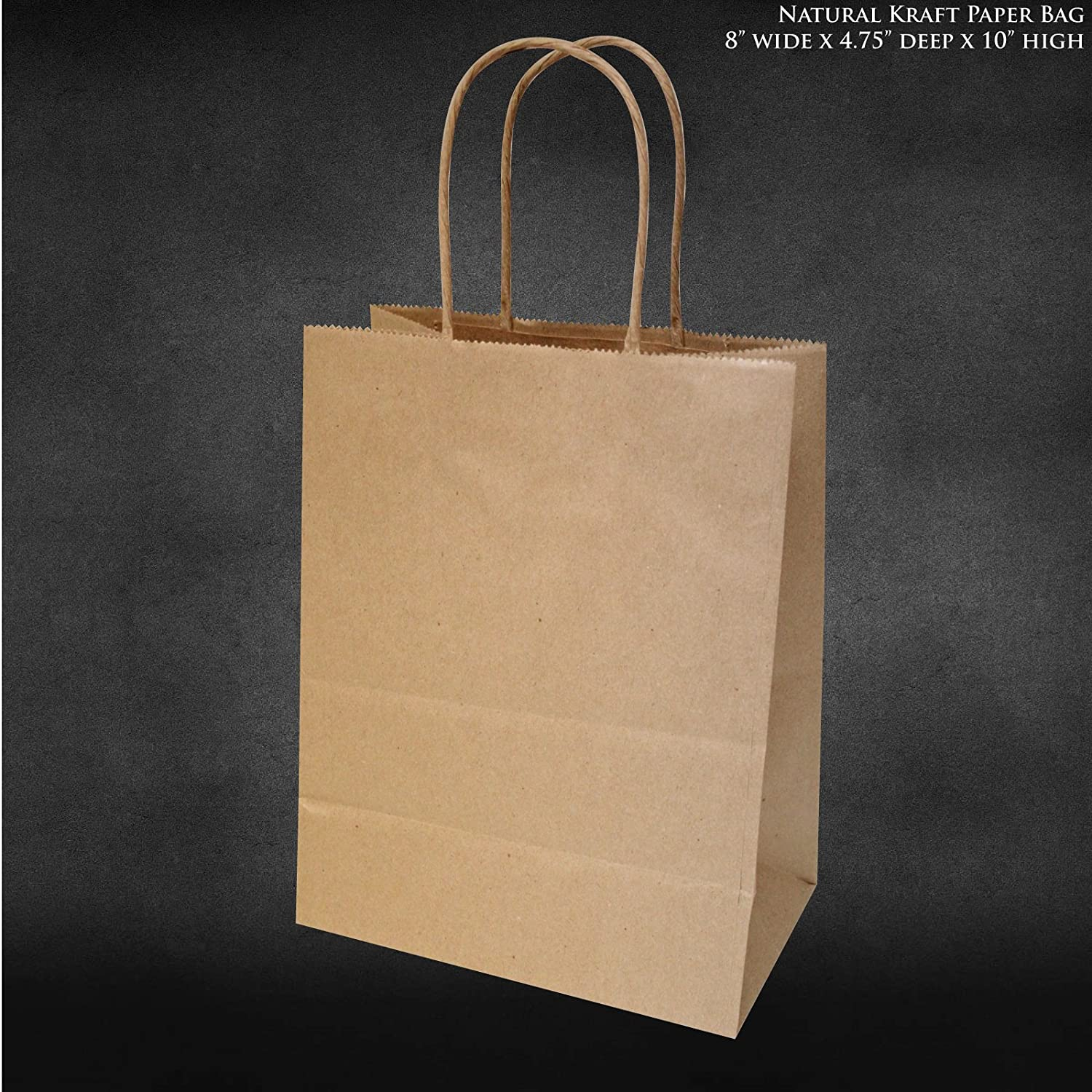 Hobby lobby craft bags - Amazon Com 8 X4 75 X10 50 Pcs Bagsource Brown Kraft Paper Bags Shopping Merchandise Bags Party Bags Gift Bags Retail Bags Craft Bags Brown Bag Natural