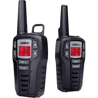 Uniden SX237-2CK Up to 23-Mile Range FRS Two-Way Radio Walkie Talkies with Rechargeable Batteries & Dual Charging Cradle, 22 Channels, 121 Privacy Codes, NOAA Weather Channels + Alerts, Black