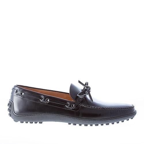 Car Shoe Uomo Mocassino in Vitello Spazzolato Nero con Laccetto Color Nero  Size 40  Amazon.it  Scarpe e borse 82a5934f753