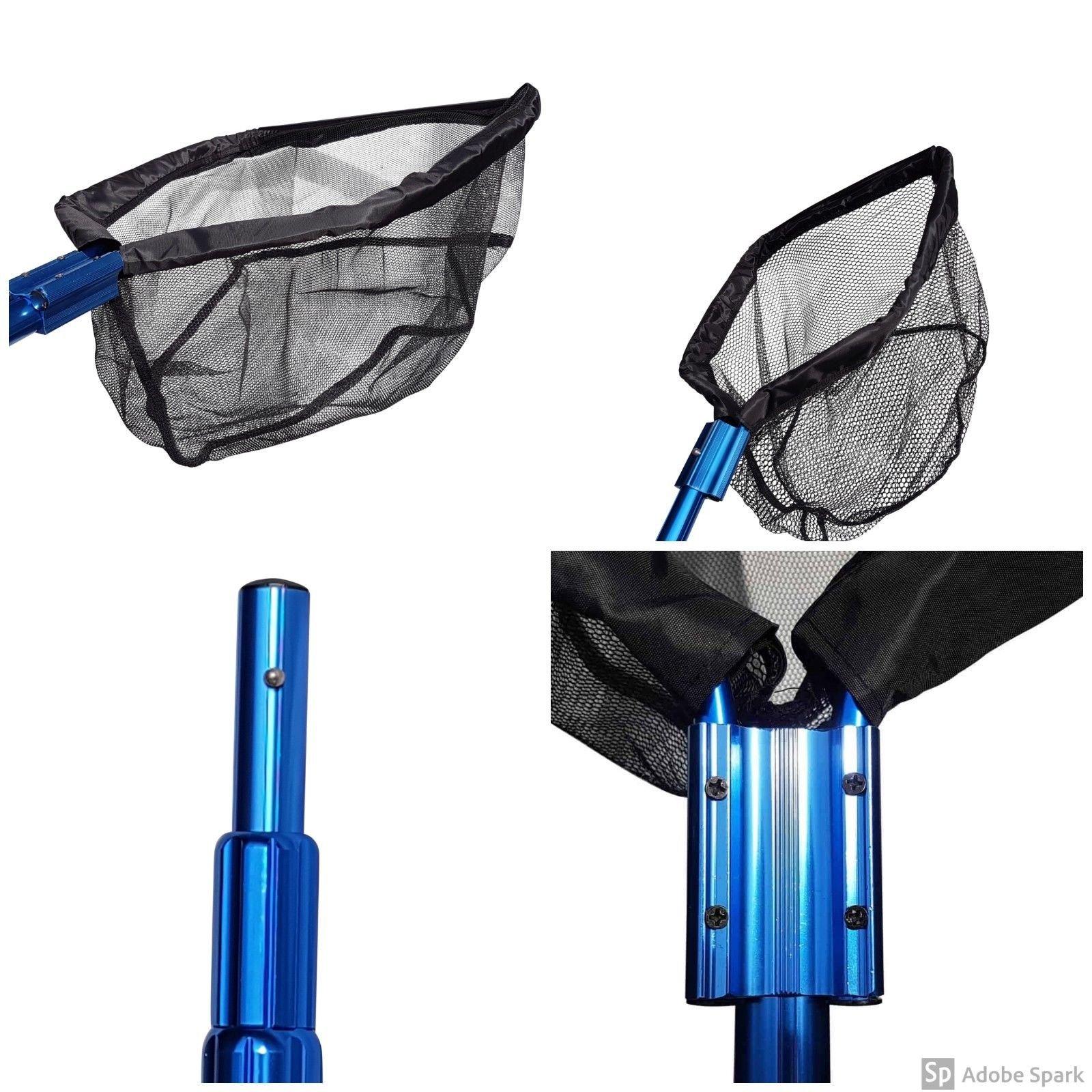Heavy Duty Koi Pond Net Combo Pack, Includes Catching Net, Skimmer Net & HD Pole