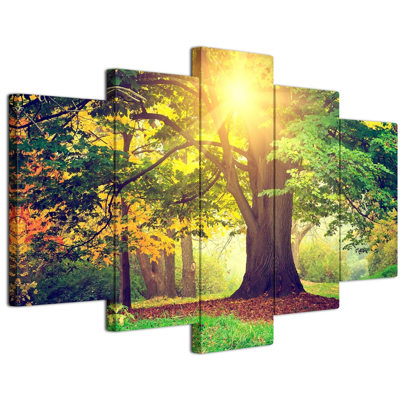 【リブラLibra】 5パネルセット アートパネル インテリアアート「林森」 キャンバス絵画 (木枠付きの完成品) (L, LP1727) B075STRHWX Large|LP1727 LP1727 Large