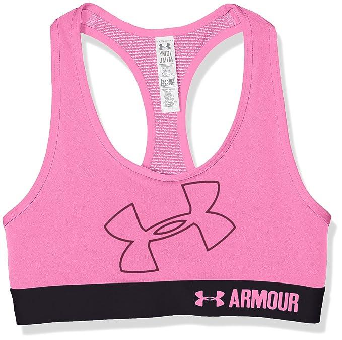 Under Armour Sujetador Deportivo para niñas, con Logo de Armour ...