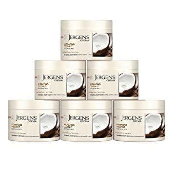 Amazon.com : Jergens Crema Hydrating Coconut Body Cream, 8 Ounces (Pack of 6) : Beauty