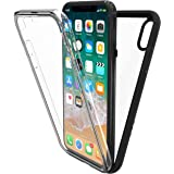New Trent Azure Full-body Transparent Bumper Case for iPhone X (2017) with Built-in Screen Protector and Transparent Back Casing