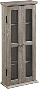 "WE Furniture AZT41AG Storage Cabinet, 41"", Driftwood"