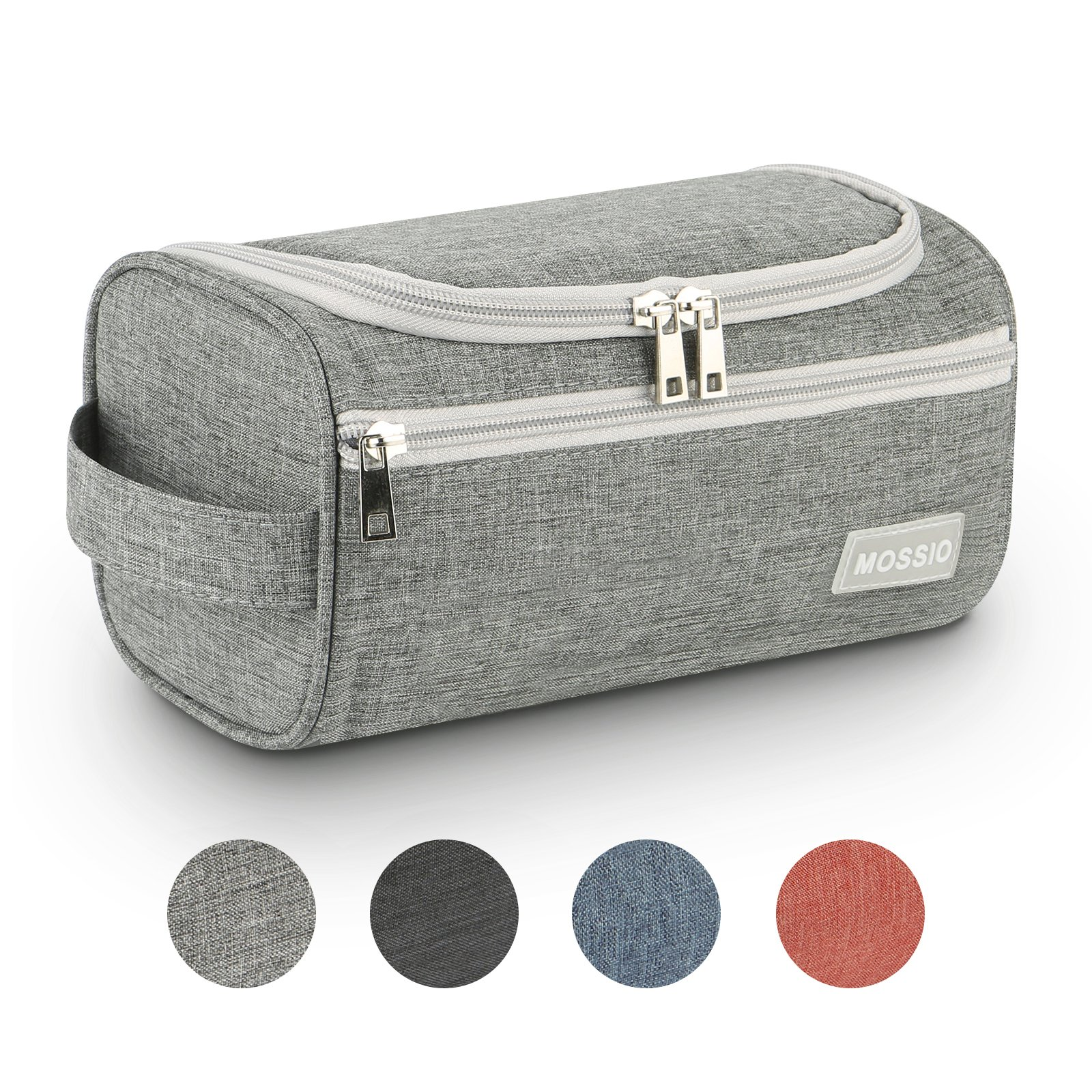Dopp Kit,Mossio Women Men Business Travel Accessories with Sturdy Hanging Hook Grey
