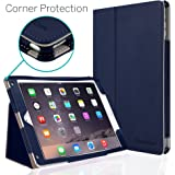 iPad Air 2 Case, [CORNER PROTECTION] CaseCrown Bold Standby Pro (Blue) with Sleep / Wake & Multi-Angle Viewing Stand