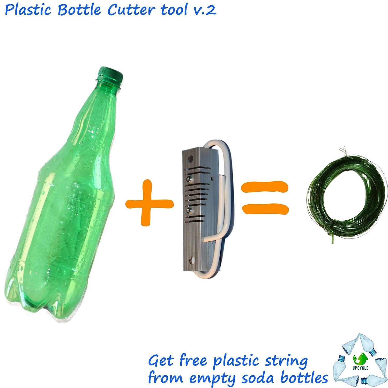 v.2 Botella de plástico reciclado (cortador), Get libre universal cuerda y thermoshrink banda (1 - 9 mm): Amazon.es: Bricolaje y herramientas