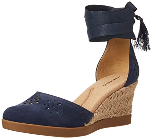 a720b093 Andrea 2424927 Alpargatas para Mujer, Color Azul Marino, 24.5 ...