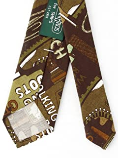 Cotton Print Tie 118-25-0187: Camp Green