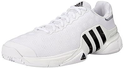 the best attitude 6129f 7a828 Adidas Performance Men s Barricade 2015 SW19 Tennis Shoe, White Black White,  8