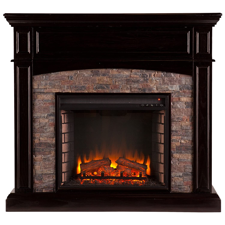 Southern Enterprises Grantham Corner Electric Fireplace TV Stand