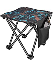 Unihoh Small Folding Camping Stool, Portable Stool for Outdoor Camping Walking Hunting Hiking Fishing Travel,600D Oxford Cloth Slacker Stool with Carry Bag