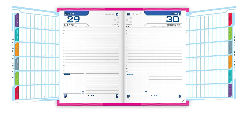 /2018/1/giorno per pagina 352/pagine 12/x 18/cm Rosa Oxford Touch Agenda Scolastica giornaliera 2017/
