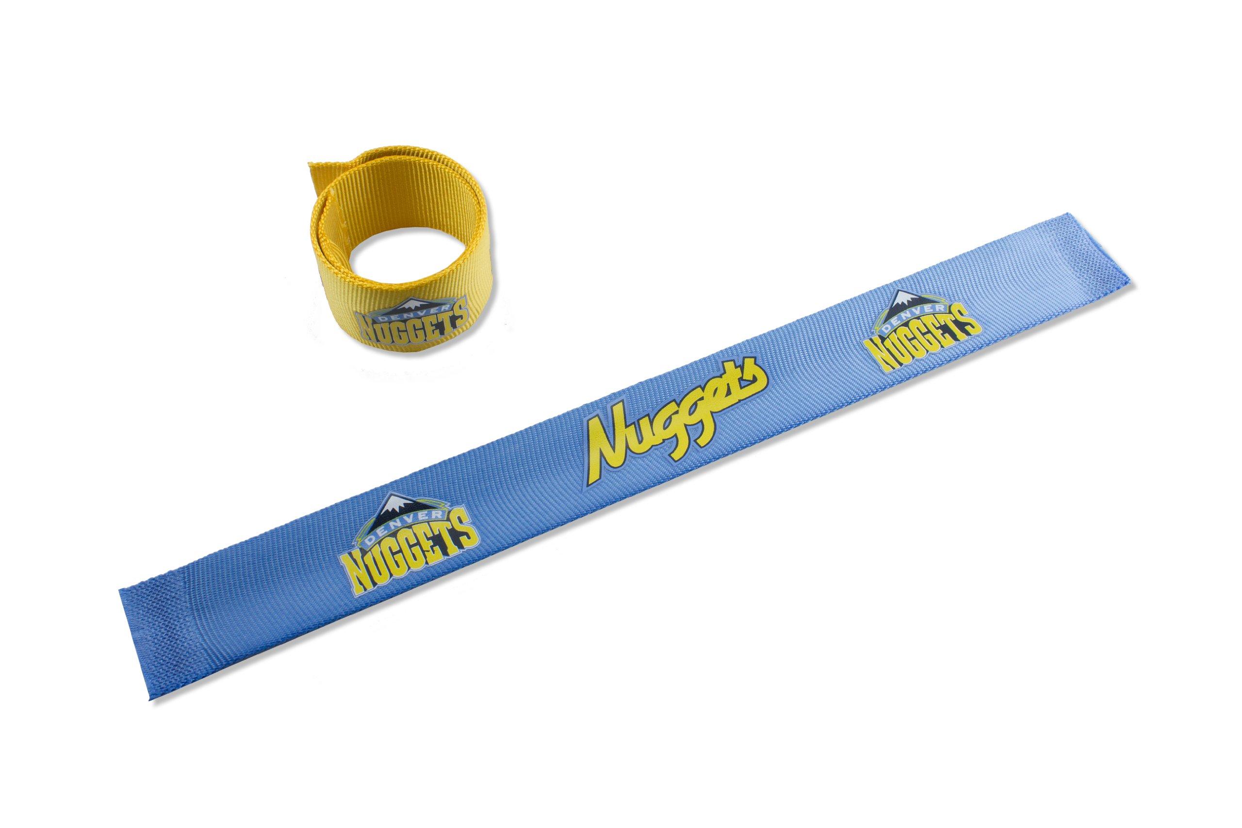 aminco NBA Denver Nuggets 2-Pack Slap Bracelet