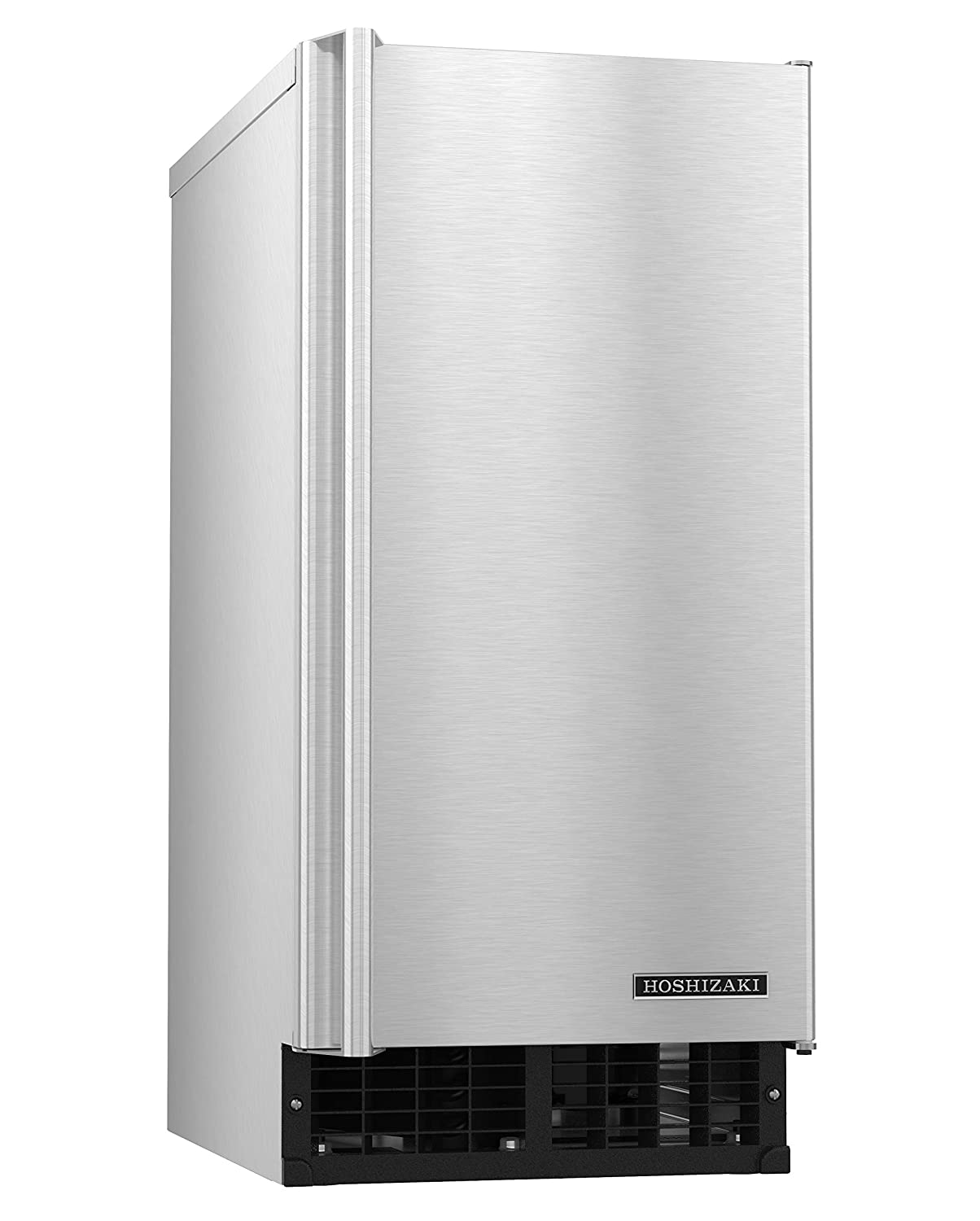 "C-80BAJ-AD 15"" Energy Star Rated Undercounter Self-Contained Cubelet Ice Maker With 92 lbs. Daily Ice Production 20 lbs. Built-In Storage Capacity Reversible Door and Front Access: Stainless Steel"