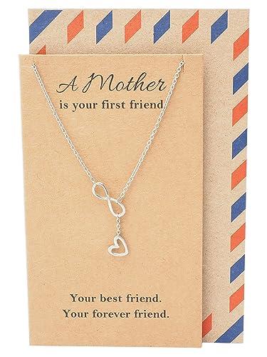 bfb0ee3f83b Amazon.com  Quan Jewelry Infinity Heart Necklace