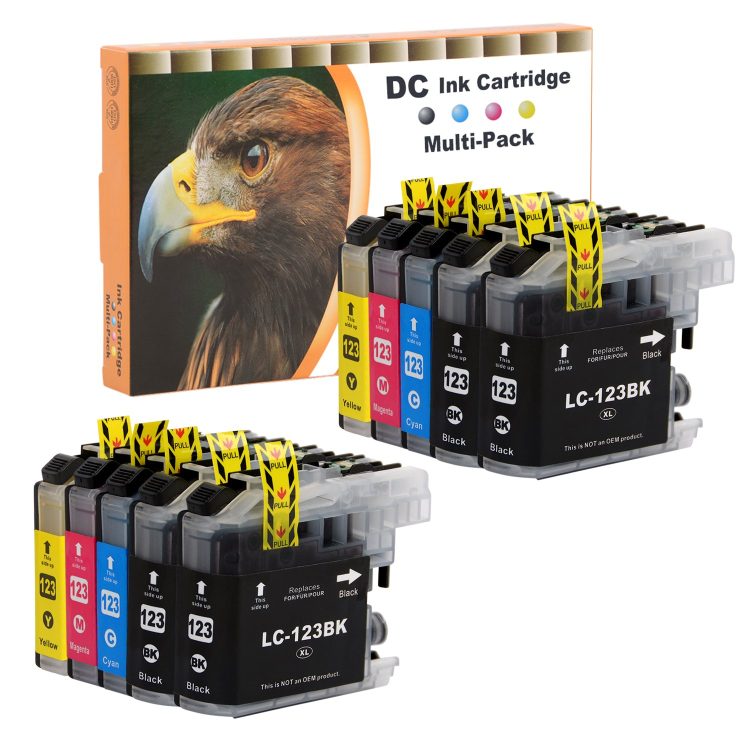 D&C 10er Set Cartuchos de impresoras para Brother DCP J132 W,J152 ...