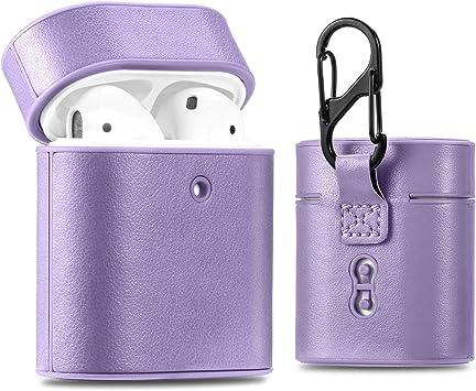 FanTing AirPods funda para auriculares con Bluetooth, carga inalámbrica, compatible con auriculares Bluetooth 2 y 1