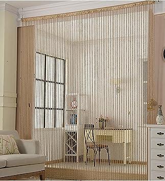 Amazon De Liqicai Threaded String Vorhang Diy Raumteiler Fur