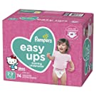 Pampers Easy Ups Pull Ups Disposable Potty Training Underwear for Girls, Size 4 (2T-3T), 74 Count
