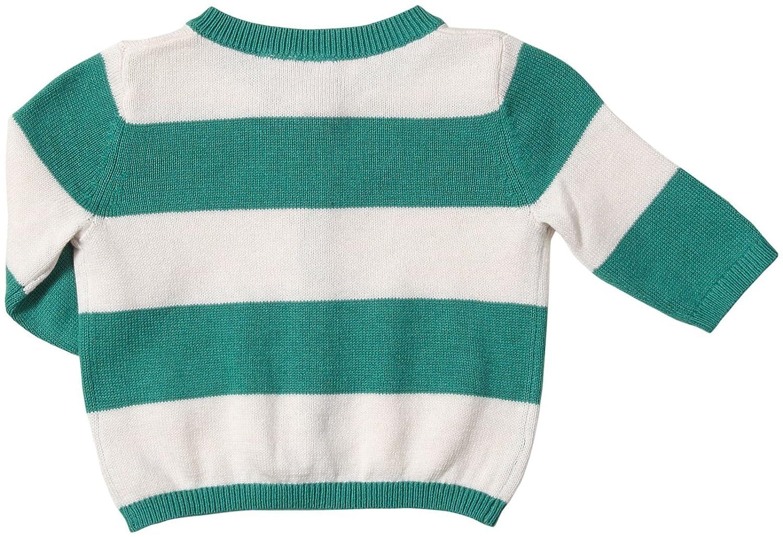 Petit Bateau Baby Girls Striped Cardigan Green//Light Pink Baby