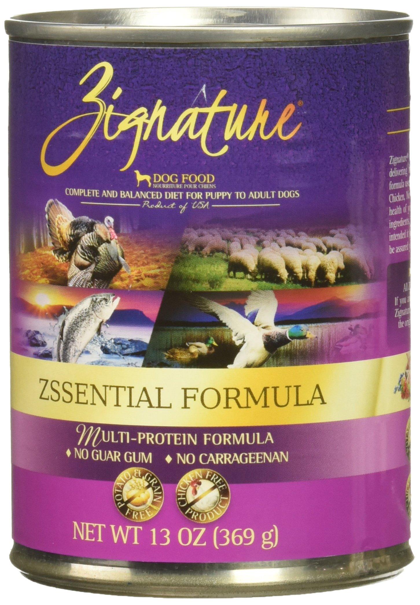 Zignature Grain Free Zsssentials Canned Dog Food 13oz,12 pack