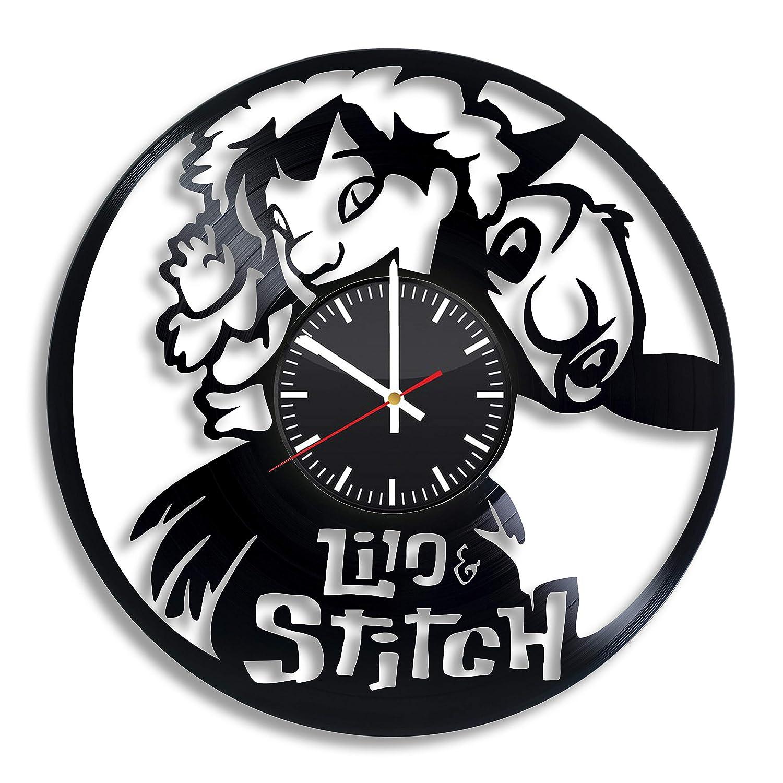 Lilo and Stitch - Reloj de pared de vinilo, diseño de Disney ...