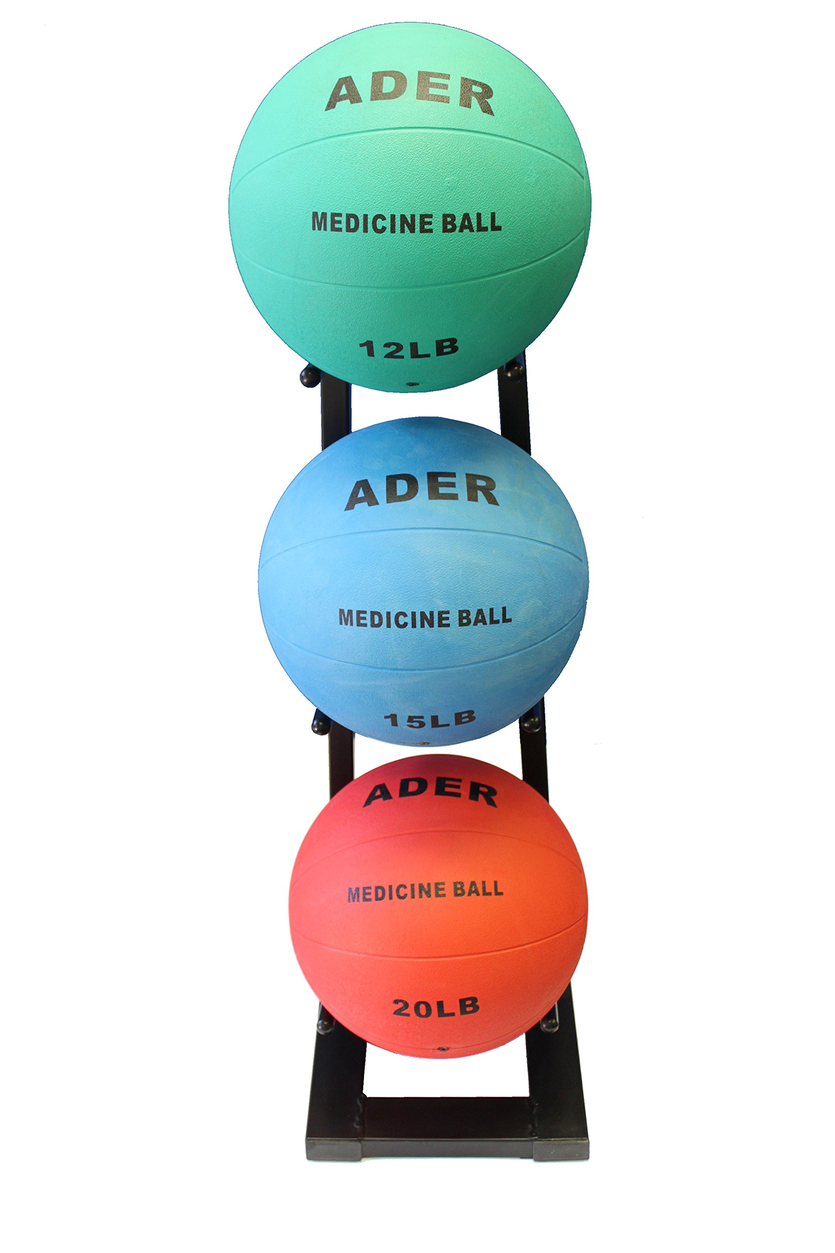 Ader Medicine Ball Set w/Rack (Rack + 8-12-25 LB Med Balls) by Ader Sporting Goods (Image #7)
