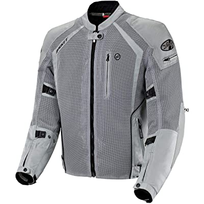 Joe Rocket Phoenix Ion Men's Mesh Motorcycle Jacket (Silver, X-Large Tall): Automotive