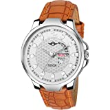 MINSK MK4070 Leather Strap Day and Date Boys Watch - for Men