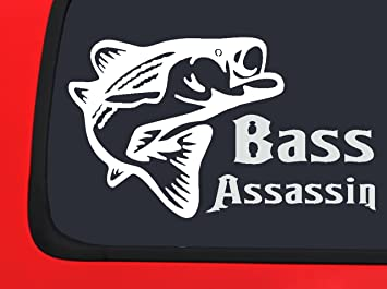 Amazoncom Bass Assassin Fishing Window Decal Sticker Boat Auto - Vinyl fish decals for boats